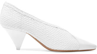 Neous - Pleau Woven Leather Pumps - White