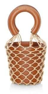 Staud Mini Moreau Suede& Leather Bucket Bag