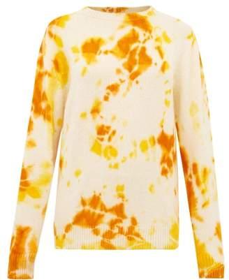 The Elder Statesman Tie Dye Cashmere Sweater - Womens - Orange Multi