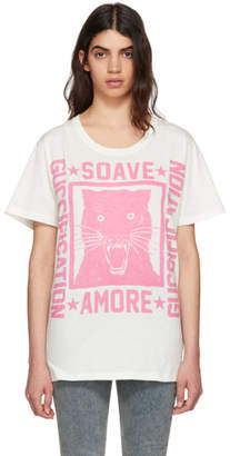 Gucci Off-White Soave Amore Panther T-Shirt