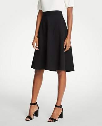 Ann Taylor Seamed Ponte Full Skirt
