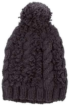 M.PATMOS Merino Wool Pom-Pom Beanie w/ Tags