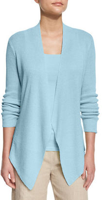 Eileen Fisher Angled-Front Organic Linen Jacket $278 thestylecure.com