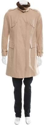 Brunello Cucinelli Chinchilla Fur-Trimmed Jacket