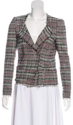 Etoile Isabel Marant Tweed Asymmetrical Collar Jacket