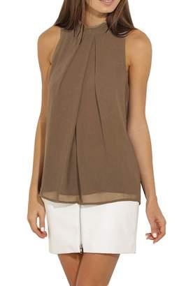 OMZIN Womens Shirt Summer Daily Shirts Sleeveless Casual Shirt ,XL