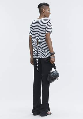 Alexander Wang STRIPED CUTOUT TEE TOP