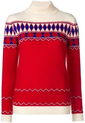 Maison Margiela argyle knit roll-neck jumper