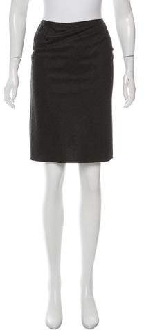 Miu Miu Miu Miu Wool Knee-Length Skirt