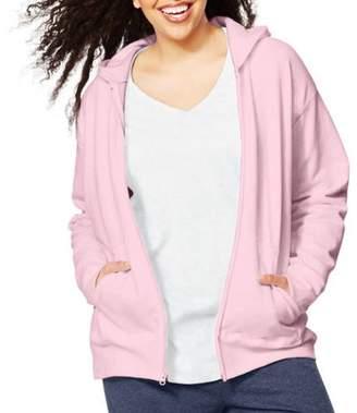 Just My Size Women's Plus Fleece Zip Hood Jacket