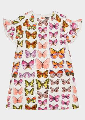 Versace Butterfly Print Short Sleeve Dress