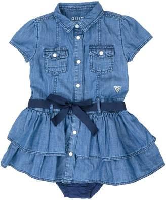 GUESS Girl's Denim Dress Bloomer Set