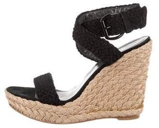 Stuart Weitzman Woven Wedge Sandals