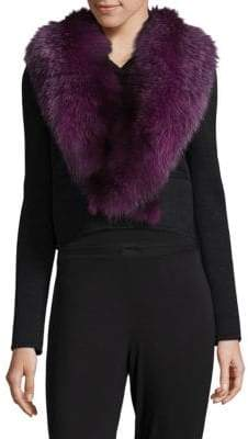 Karl Lagerfeld Dyed Fox Fur Collar