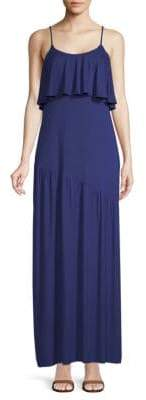 Rachel Pally Goldee Flounced Popover Maxi Dress
