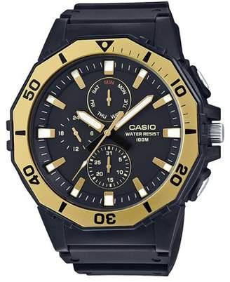 Casio Men's Large Face Diver Style Watch, Black/Gold