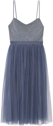 Needle & Thread - Coppelia Embellished Gauze And Tulle Midi Dress - Blue $260 thestylecure.com