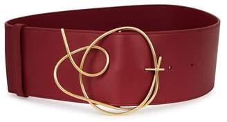 Roksanda Bordeaux Leather Belt