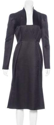 Gucci Houndstooth Midi Dress
