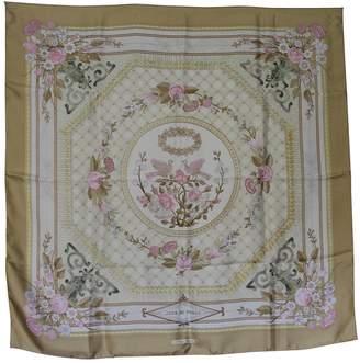 Hermes Vintage Carre 90 Beige Silk Silk handkerchief