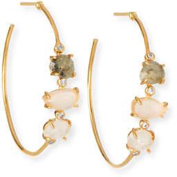 Tai Multicolored Stone Hoop Earrings