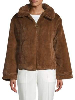 Faux Fur Zip-Up Jacket