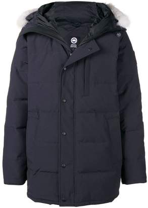 Canada Goose fur-trimmed padded hooded coat