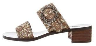 See by Chloe Glitter Slide Sandals w/ Tags