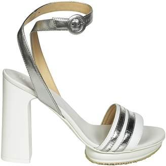 Hogan Square Heel Sandals