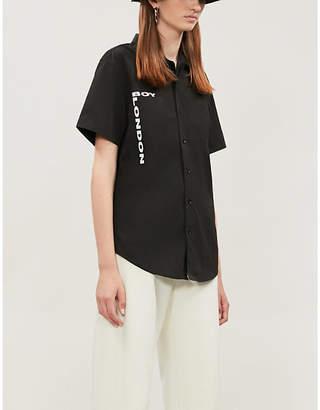 Boy London Oversized punk-print shell shirt