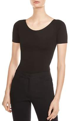 Halston Back Cutout Bodysuit