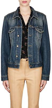 Saint Laurent Women's Collegiate Logo Denim Jacket
