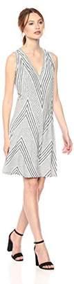 Max Studio MAXSTUDIO Women's Knit End Stripe Dress