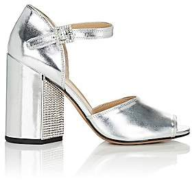 Marc Jacobs Women's Kasia Specchio Leather Sandals-Silver