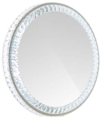Co Impressions Vanity Diamond Collection Round LED Wall Mirror