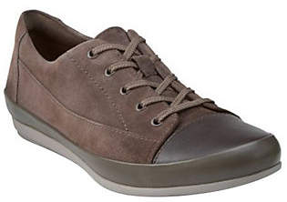 Clarks Leather Lace-up Sneakers -Lorry Grace