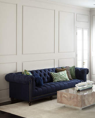 """Massoud Kniles Tufted Seat Chesterfield Sofa - 94"""""""