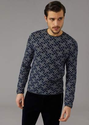 Giorgio Armani Jacquard Jumper With Houndstooth Motif