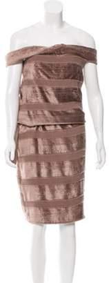 Bottega Veneta Off-The-Shoulder Velvet Dress w/ Tags Mauve Off-The-Shoulder Velvet Dress w/ Tags
