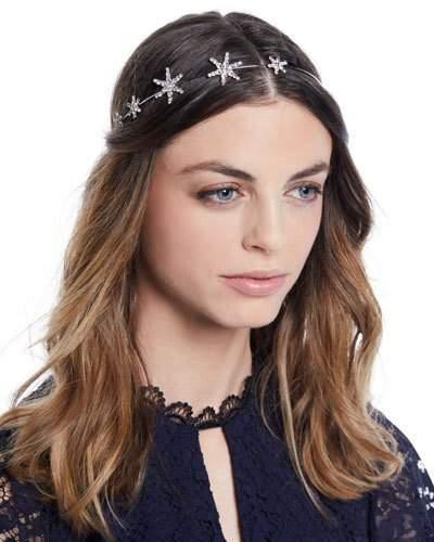 Jennifer Behr Callista Swarovski Crystal Star Bandeaux Headband
