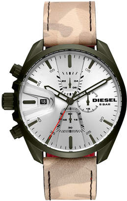 Diesel Men's Chronograph MS9 Chrono Camo Leather Strap Watch 47mm