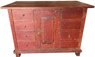 One Kings Lane Vintage European Painted Chest - Heather Cook Antiques