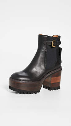 See by Chloe Bryn Platform Ankle Boots