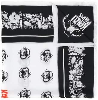 Kenzo Tiger Graffiti scarf