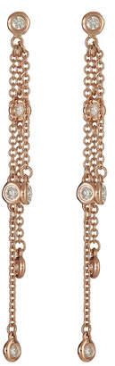 Neiman Marcus Diamonds 14k Pink Gold By-The-Yard Diamond Dangle Earrings