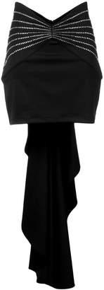 ATTICO draped embellished mini skirt