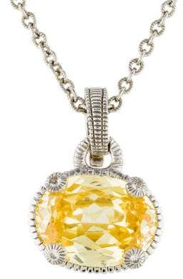 Judith Ripka Crystal & White Sapphire Pendant Necklace