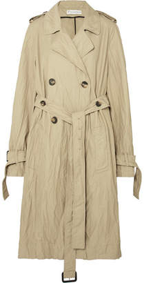 J.W.Anderson Crinkled-twill Trench Coat - Beige