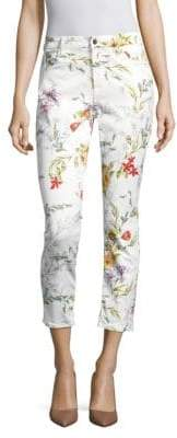 JEN7 by 7 For All Mankind Floral Ankle Skinny Jeans