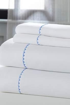 COLONIAL HOME TEXTILES Cotton California King Sheets - 4 Piece Set - White